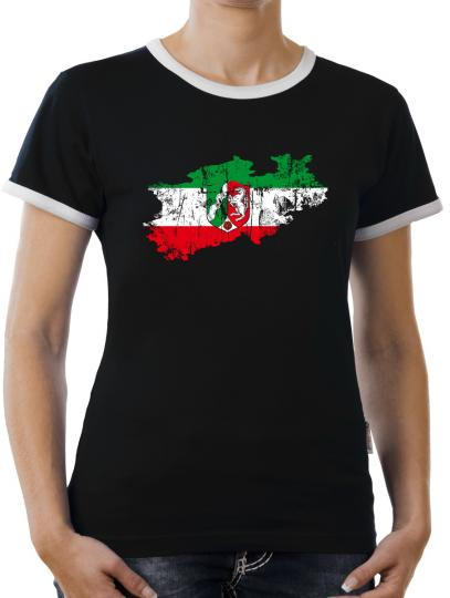 TLM Nordrhein Westpfalen Bundesland Kontrast T-Shirt Damen