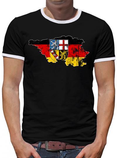 Saarland Bundesland Kontrast T-Shirt Herren