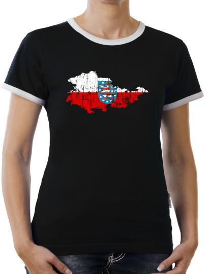 TLM Thüringen Bundesland Kontrast T-Shirt Damen