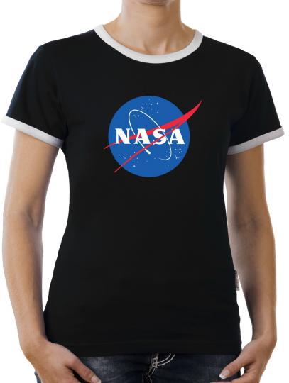 TLM Nasa Logo Kontrast T-Shirt Damen