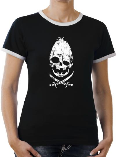 TLM Sloth Fratelli Restaurant Head Fun Data Goonies Piraten Bones Kontrast T-Shirt Damen