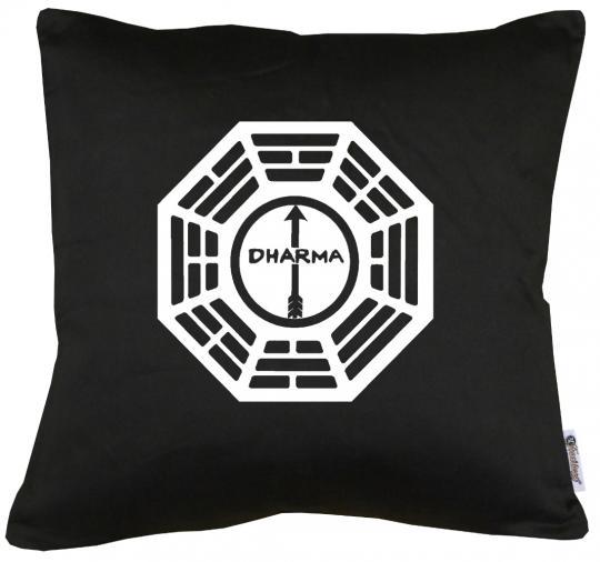 Dharma Lost The Arrow Logo Kissen mit Füllung 40x40cm
