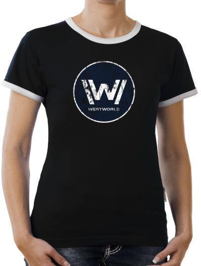 TLM Westworld Logo Kontrast T-Shirt Damen