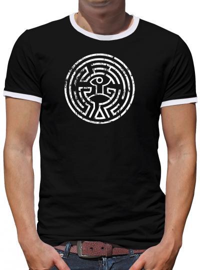 Westworld Maze Kontrast T-Shirt Herren