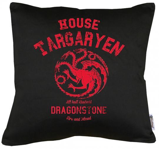 House Targaryen Kissen mit Füllung 40x40cm