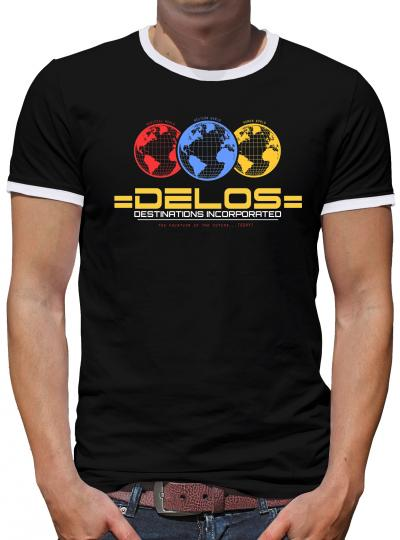 Delos Inc Kontrast T-Shirt Herren