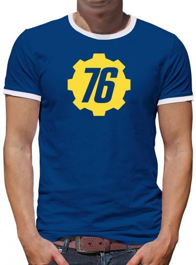 Vault 76 Tec Inc Kontrast T-Shirt Herren