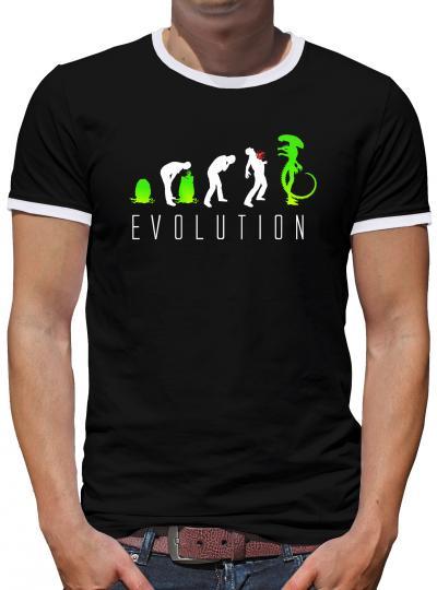 Evolution Alien Kontrast T-Shirt Herren