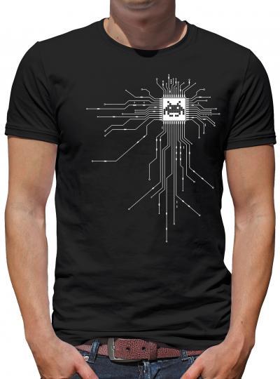 Nerd CPU Cyborg Computer Chip T-Shirt