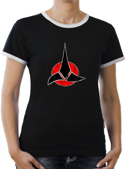 TLM Klingonen Symbol Kontrast T-Shirt Damen