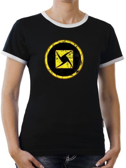 TLM Battlestar Colonial Viper Symbol Logo Kontrast T-Shirt Damen