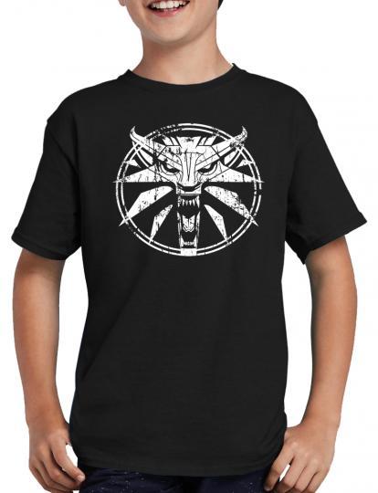 Circle Wolf Medallion Gamer T-Shirt