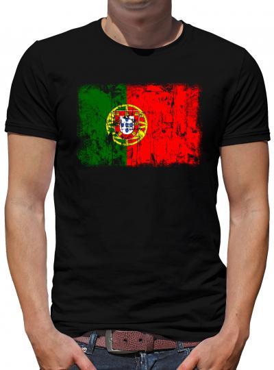 Portugal Vintage Flagge Fahne T-Shirt