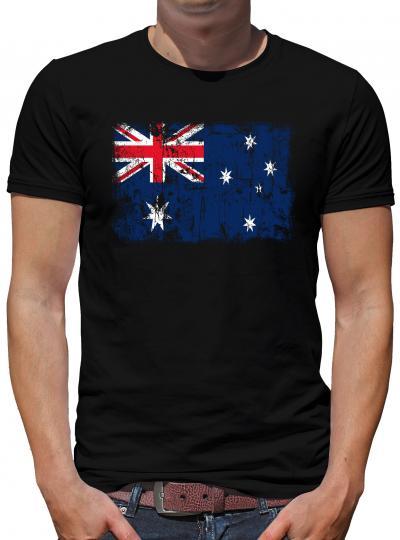Australien Vintage Flagge Fahne T-Shirt