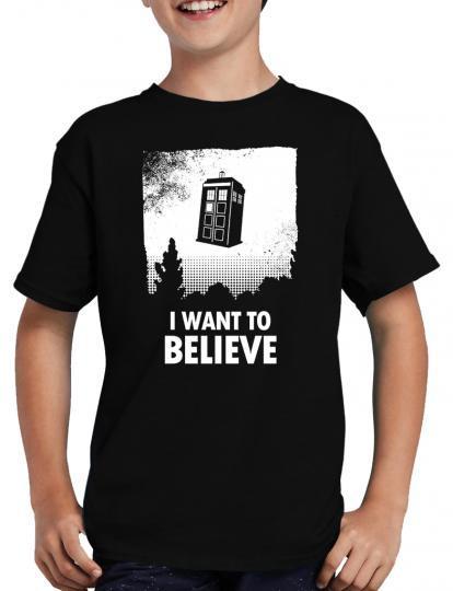 I want to believe Who T-Shirt Tardis Dalek Dr Time