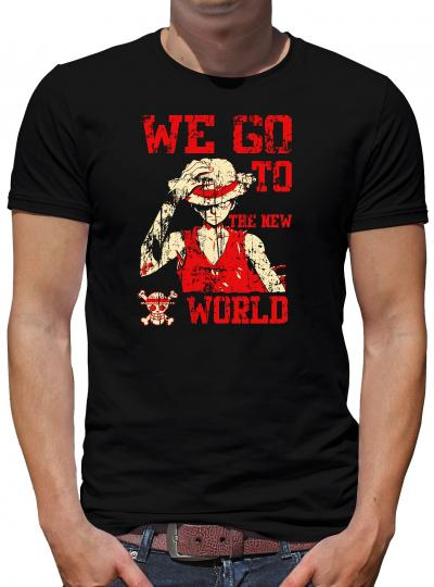 We go to the new World T-Shirt One Luffy Piece