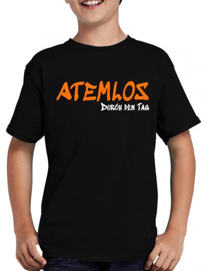 Atemlos - durch den Tag T-Shirt Sprche Lustig