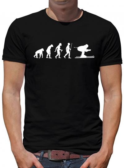 Evolution Skifahrer T-Shirt Ski Sprüche Fun