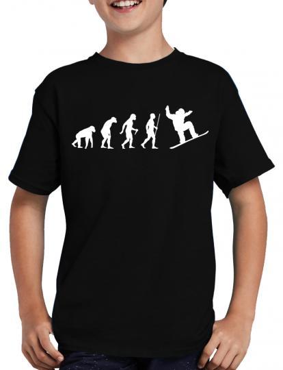 Evolution Snowboarder T-Shirt Ski Sprche Fun