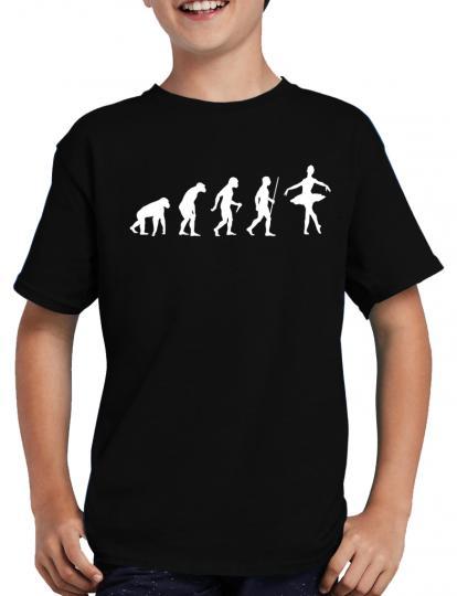 Evolution Ballerina T-Shirt Spass Fun Lustig Sprche