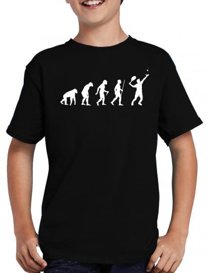 Evolution Tennis T-Shirt Spass Fun Lustig Sprche
