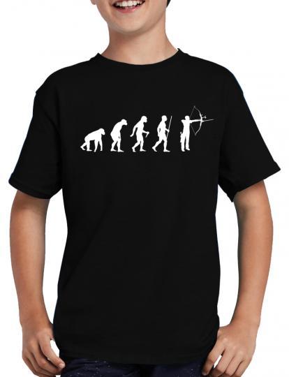 Evolution Bogenschtze T-Shirt Sprche Lustig Fun