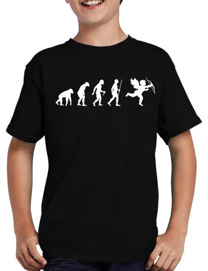 Evolution Amor T-Shirt Sprche Lustig Fun