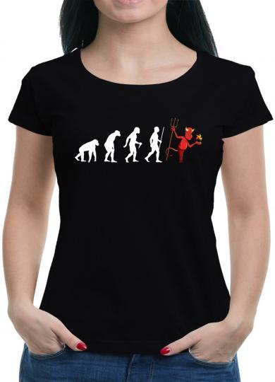 Evolution Teufel T-Shirt Sprüche Lustig Fun