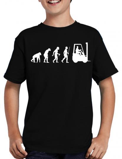 Evolution Gabelstapler T-Shirt Fun Nerd Geek Sprche