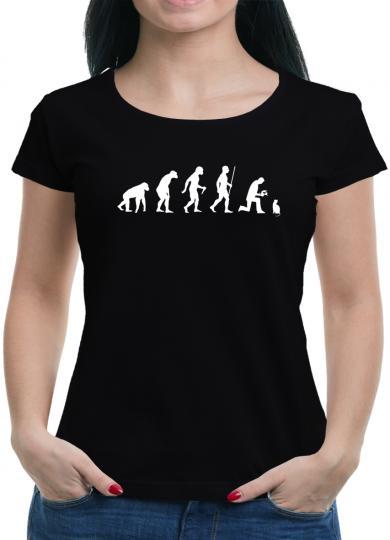 Evolution Katze T-Shirt Nerd Cat füttern Spass