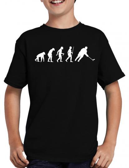 Evolution Eishockey T-Shirt Puk Geek Sport Fun