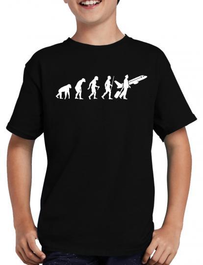 "Evolution Pilot T-Shirt Kapit""n Flugzeug Airbus"