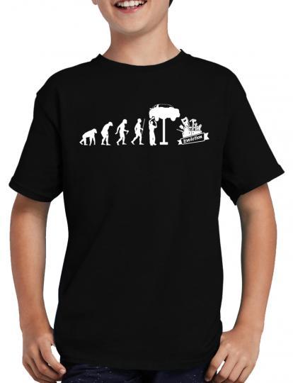 Evolution KFZ Mechaniker T-Shirt Auto Monteur Handwerk