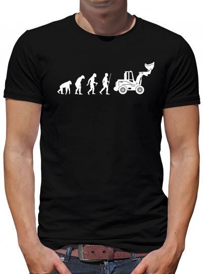 Evolution Radlader T-Shirt Sprüche Spass Nerd