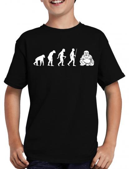 Evolution Buddha T-Shirt Sprche Geek Fun