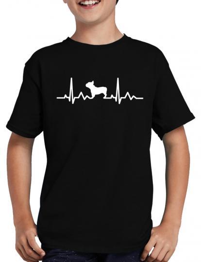 "Herzschlag Franz""sische Bulldogge T-Shirt Herzfrequenz  EKG"