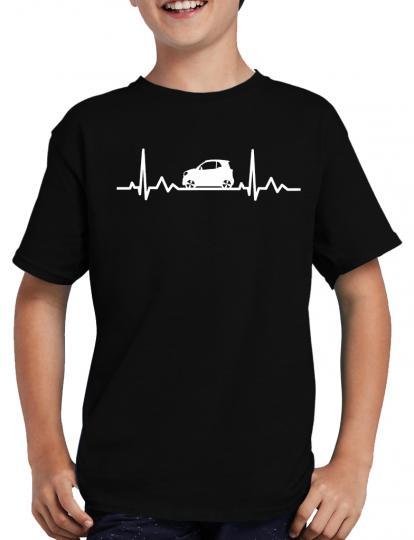 Herzschlag Auto T-Shirt Herzfrequenz EKG Heart