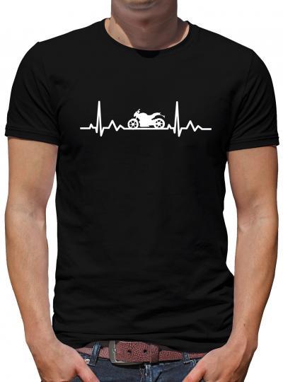 Herzschlag Motorrad T-Shirt EKG Heart Herz