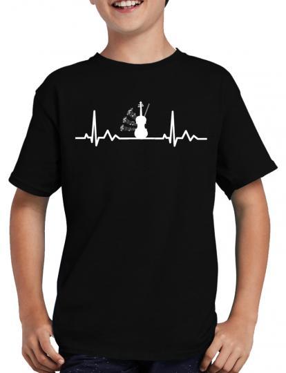 Herzschlag Geige T-Shirt Musik Konzert Musical