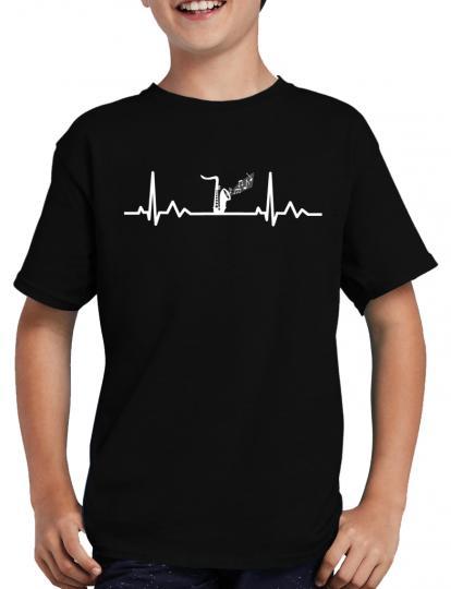 Herzschlag Saxophon T-Shirt Musik Konzert Musical
