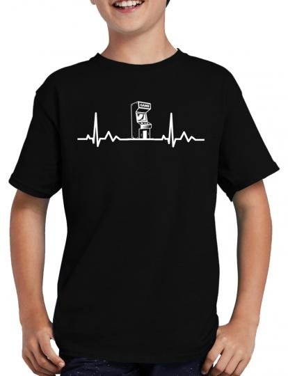 Herzschlag Arcade Automat T-Shirt Gamer Zocken Nerd Konsole