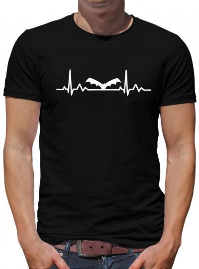 Herzschlag Fledermaus T-Shirt Zoo Tiere Heatbeat