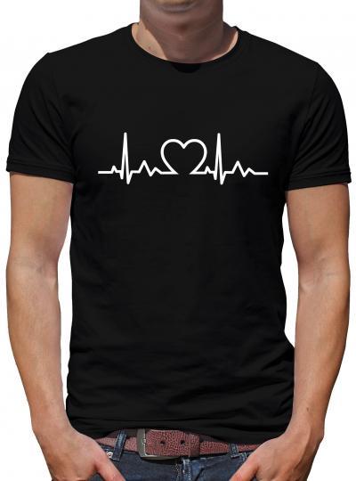 Herzschlag Herz T-Shirt Heartbeat Liebe