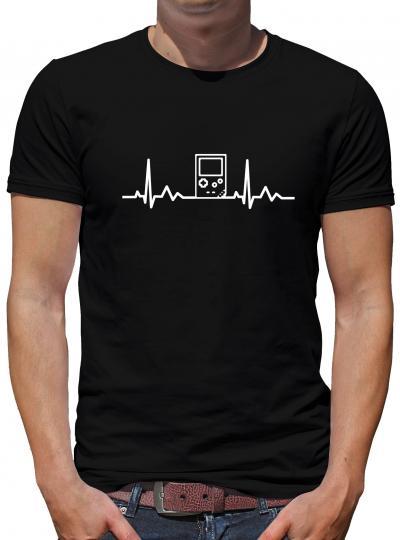 Herzschlag Pocket Game T-Shirt Zocken Boy 8 Bit Nerd