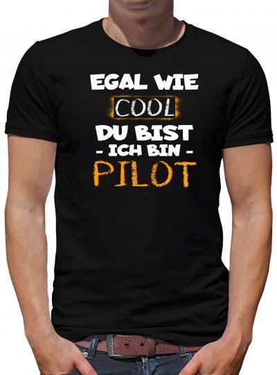 TShirt-People Cool Ich bin Pilot T-Shirt Herren