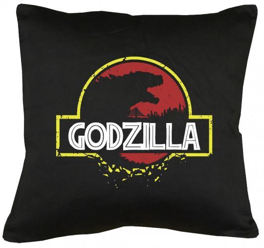 Godzilla Park Kissen mit Füllung 40x40cm