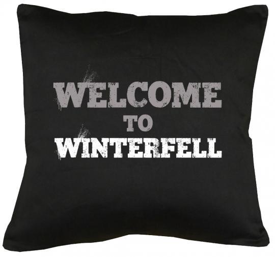 Welcome to Winterfell Kissen mit Füllung 40x40cm