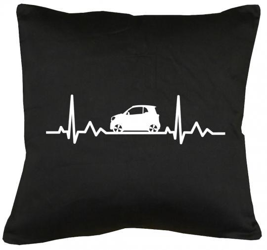 Herzschlag Auto Kissen mit Füllung 40x40cm
