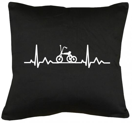 Herzschlag Dreirad Kissen mit Füllung 40x40cm