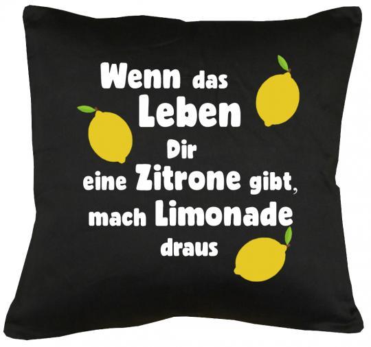 Wenn das Leben dir Zitronen gibt... Kissen mit Füllung 40x40cm